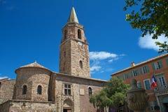 Entrada de la catedral del frejus Imagenes de archivo