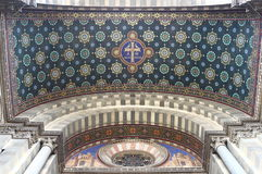 Entrada de la catedral Marsella, Francia Imagen de archivo libre de regalías