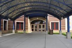 Entrada de la construcción de escuelas Foto de archivo