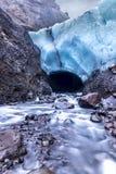Entrada de la cueva de hielo en Islandia Imagenes de archivo