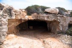 Entrada de la cueva del Cyclop Imagen de archivo