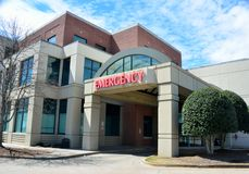 Entrada de la emergencia del hospital Imagen de archivo