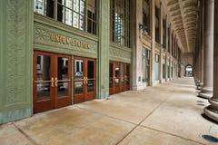 Entrada de la estación de la unión de Chicago. Foto de archivo libre de regalías