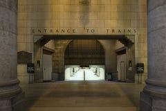 Entrada de la estación de tren de la unión Foto de archivo libre de regalías