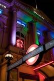 Entrada de la estación del metro del circo de Piccadilly Foto de archivo libre de regalías