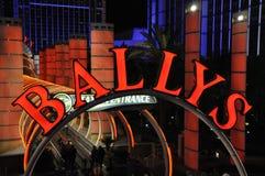 Entrada de la estación del monocarril de Ballys - Las Vegas, los E.E.U.U. Imagen de archivo libre de regalías