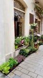 entrada de la floristería fotografía de archivo