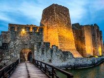 Entrada de la fortaleza de Smederevo Fotografía de archivo