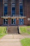 Entrada de la High School secundaria de la era de la guerra fría Imagen de archivo