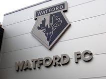 Entrada de la hospitalidad, estadio del club del f?tbol de Watford fotos de archivo libres de regalías