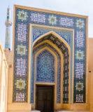 Entrada de la mezquita del jame en Yazd - Irán Fotos de archivo libres de regalías