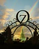 Entrada de la onza con el arco iris stock de ilustración