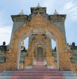 Entrada de la pagoda de la piedra arenisca Foto de archivo
