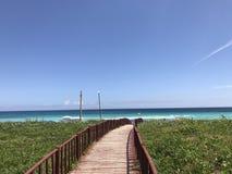Entrada de la playa foto de archivo