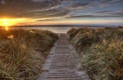Entrada de la playa Imagen de archivo libre de regalías