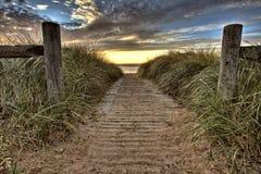 Entrada de la playa Fotografía de archivo