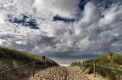 Entrada de la playa Fotos de archivo libres de regalías