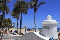 Entrada de la playa de los Olas de Las Foto de archivo libre de regalías