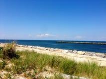 Entrada de la playa de Mattituck Imagenes de archivo