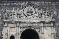 Entrada de la puerta del castillo en Alemania foto de archivo
