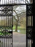 Entrada de la puerta del metal Fotografía de archivo