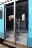 Entrada de la puerta del tren Imagen de archivo libre de regalías