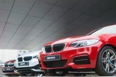 Entrada de la sala de exposición de BMW Fotografía de archivo libre de regalías