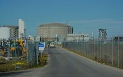 Entrada de la seguridad a la instalación líquida del gas natural Fotos de archivo libres de regalías