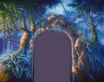 Entrada de la selva ilustración del vector