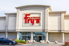 Entrada de la tienda de Fry's Electronics Imagen de archivo