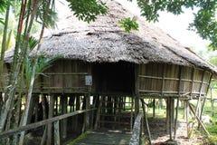 Entrada de la tribu Sarawak de Bidayuh Fotografía de archivo libre de regalías