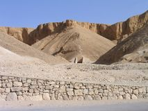 Entrada de la tumba. Valle de los reyes, Luxor, Egipto Imágenes de archivo libres de regalías