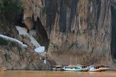 Entrada de las cuevas del Ou de Pak Foto de archivo libre de regalías