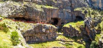 Entrada de las cuevas de Tinaztepe en Konya Foto de archivo libre de regalías