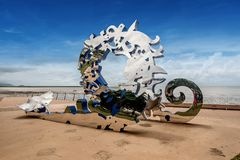 Entrada de los ciudadanos a la gran barrera de coral, una escultura de Brian imagen de archivo