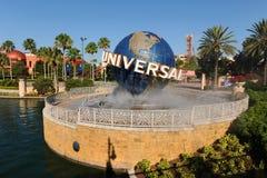 Entrada de los estudios universales en Orlando, la Florida Imagen de archivo libre de regalías