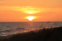 Entrada de los lagos sunset Imagen de archivo libre de regalías