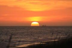 Entrada de los lagos sunset Foto de archivo libre de regalías