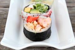 Entrada de los rollos de sushi Fotografía de archivo
