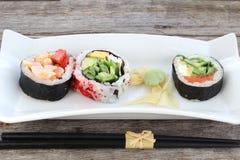 Entrada de los rollos de sushi Imagenes de archivo