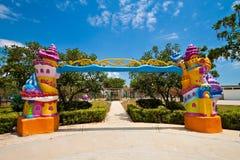 Entrada de lujo a un parque temático de los niños Fotografía de archivo libre de regalías