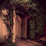 Entrada de madeira Imagens de Stock Royalty Free