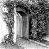 Entrada de madeira 2 Foto de Stock Royalty Free
