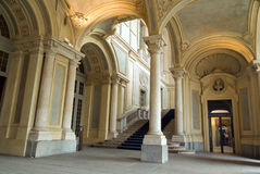 Entrada de Palazzo Madama, Turin, Itália Fotos de Stock Royalty Free