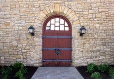 Entrada de pedra clássica do edifício Fotografia de Stock Royalty Free