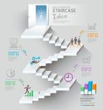 Entrada de pensamento da escadaria do negócio conceptual. ilustração do vetor