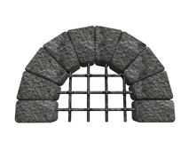 Entrada de piedra arqueada