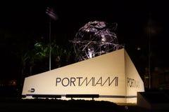 Entrada de PortMiami imágenes de archivo libres de regalías