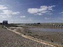Entrada de porto Walberswick - Suffolk Foto de Stock Royalty Free