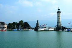 Entrada de puerto en Lindau Fotografía de archivo